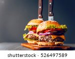 two mouth watering  delicious... | Shutterstock . vector #526497589