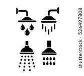 shower vector icon on white... | Shutterstock .eps vector #526497808