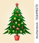 christmas tree | Shutterstock .eps vector #526498270