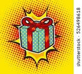 xmas gift pop art retro style... | Shutterstock .eps vector #526498618