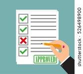school exam test results vector ... | Shutterstock .eps vector #526498900
