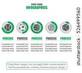 process chart. business data.... | Shutterstock .eps vector #526499560