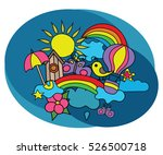 summer weather design set.... | Shutterstock .eps vector #526500718
