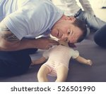 cpr first aid training concept | Shutterstock . vector #526501990