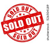 sold out rubber stamp vector... | Shutterstock .eps vector #526504189
