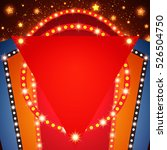 retro stage shining banner...   Shutterstock .eps vector #526504750