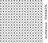simple pattern with monochrome...   Shutterstock .eps vector #526506556