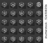 24 dice in all possible turns... | Shutterstock .eps vector #526508356