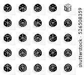 24 dice in all possible turns... | Shutterstock .eps vector #526508359