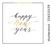 happy new year gold text... | Shutterstock .eps vector #526510159