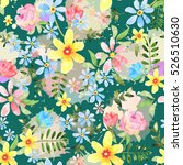 floral seamless pattern with... | Shutterstock . vector #526510630