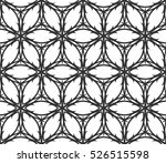 monochrome geometric seamless... | Shutterstock .eps vector #526515598