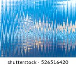 blue  white yellow waves strips ... | Shutterstock . vector #526516420