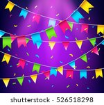 multicolored bright buntings... | Shutterstock .eps vector #526518298
