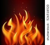 red burning fire flame on black ... | Shutterstock .eps vector #526518520