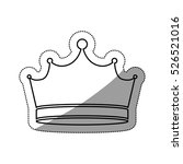 isolated crown design | Shutterstock .eps vector #526521016