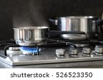 pot stands on a stove   Shutterstock . vector #526523350