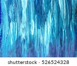 Background of light blue paint strokes. Bright acrylic background.