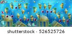 underwater ruins with a set of...   Shutterstock .eps vector #526525726