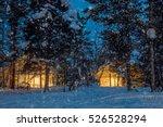winter snowfall night  small... | Shutterstock . vector #526528294