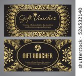 gift voucher template with... | Shutterstock .eps vector #526532140