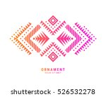 aztec style colorful ornament.... | Shutterstock .eps vector #526532278