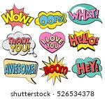 collection of speech bubbles in ... | Shutterstock .eps vector #526534378