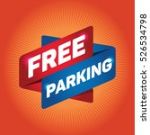 free parking arrow tag sign.