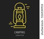 logo or label lamp. line style... | Shutterstock .eps vector #526534933