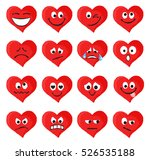 set of emoticons and emojis in... | Shutterstock .eps vector #526535188