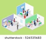 isometric interior of reception.... | Shutterstock . vector #526535683
