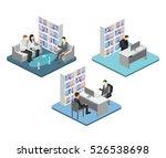 isometric interior of director... | Shutterstock . vector #526538698