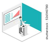 isometric flat 3d concept of... | Shutterstock . vector #526540780