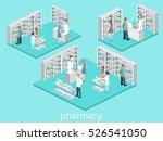 isometric interior of pharmacy. ... | Shutterstock . vector #526541050