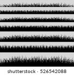 grass borders silhouette set on ... | Shutterstock .eps vector #526542088