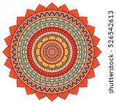 vector indian mandala | Shutterstock .eps vector #526542613