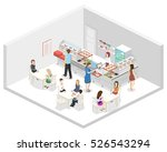 isometric flat 3d concept... | Shutterstock . vector #526543294
