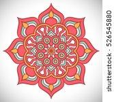 vector indian mandala | Shutterstock .eps vector #526545880