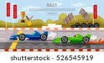 car racing banner  cars on a... | Shutterstock .eps vector #526545919