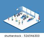 isometric flat 3d concept... | Shutterstock . vector #526546303
