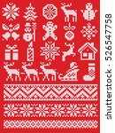 christmas and new year red and... | Shutterstock .eps vector #526547758