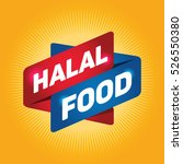 halal food arrow tag sign. | Shutterstock .eps vector #526550380