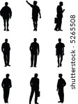 men. vector silhouettes | Shutterstock .eps vector #5265508