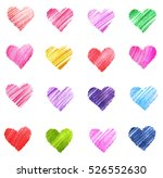 hand drawn sketch hearts for... | Shutterstock . vector #526552630