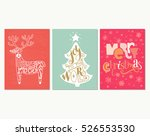 collection of three handdrawn... | Shutterstock .eps vector #526553530