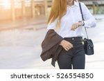 asian young beautiful woman... | Shutterstock . vector #526554850