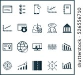 set of 20 universal editable... | Shutterstock .eps vector #526556710