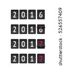 new year concept. set of... | Shutterstock .eps vector #526557409