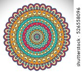 vector indian mandala | Shutterstock .eps vector #526558096