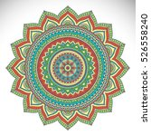 vector indian mandala | Shutterstock .eps vector #526558240